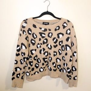Express Animal Print Sweater / Giraffe